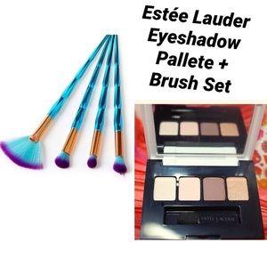 Estée Lauder Eyeshadow Palette+Brush Set Bundle